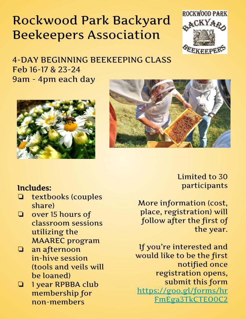 RPBBA 2019 Beginning Beekeeping class (2)
